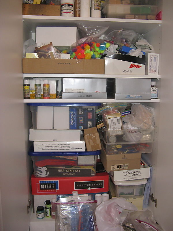 Craft cabinet before