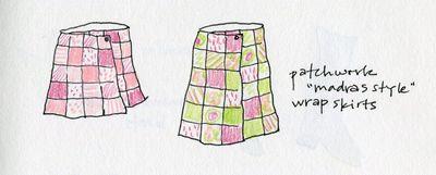 Madras skirts