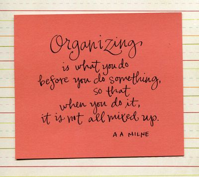 Milne organizing