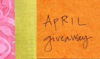 Aprill giveaway