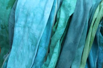 Blue green fabric