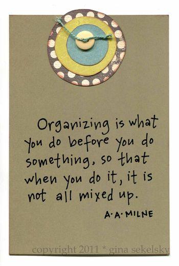 Organizing blog size