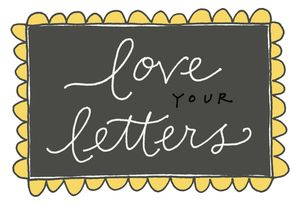 Love your letters color 2