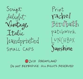 Lettering options for etsy listings