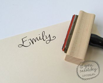 Name handwritten stamp by lettergirl on etsy