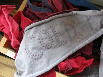 Love scarf by gina sekelsky at lettergirl detail
