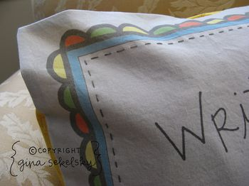 Four love pillows by gina sekelsky at lettergirl 2