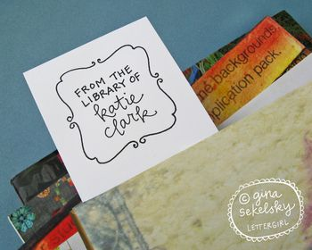 Elizabeth bookplate stamp by lettergirl on etsy