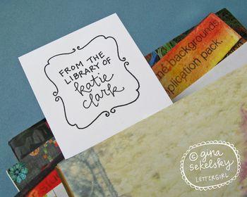 Elizabeth bookplate stamp by lettergirl on etsy