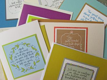 Greeting card set by lettergirl 01