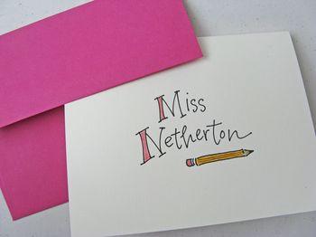 Teacher notecards by lettergirl on etsy 01